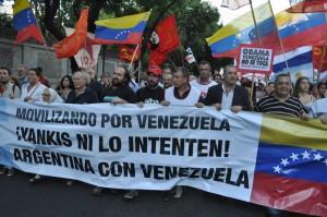 La CTA marchó en defensa de la Revolución Bolivariana